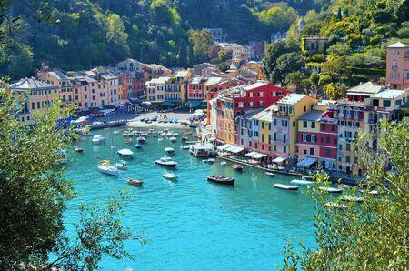 panorama of Portofino Liguria Italy