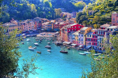 panorama of Portofino Liguria Italy