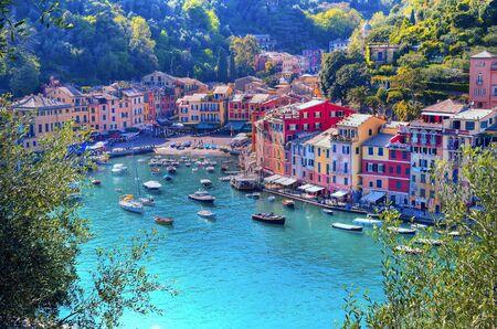 Panorama von Portofino Ligurien Italien