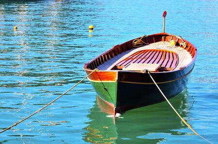 wooden boat features in Portofino Italy