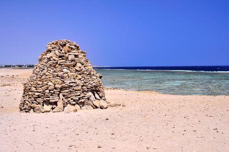 stone piles in marsa alam egypt