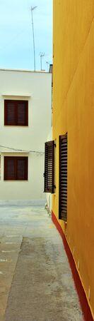 the historic center of Mazara del vallo Sicily Italy