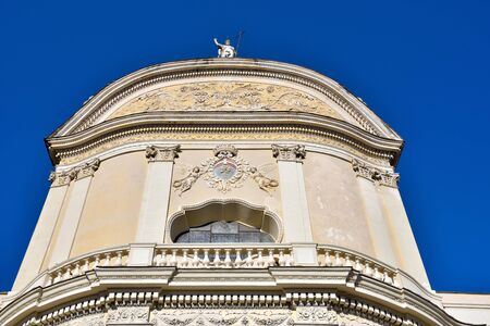 The collegiate basilica of San Giovanni Battista in Baroque style Imperia Italy