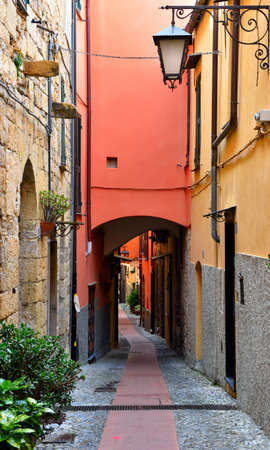 glimpse of cervo Ligurian village in the province of imperia Italy Imagens