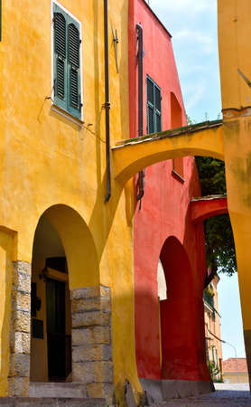 glimpse of cervo Ligurian village in the province of imperia Italy