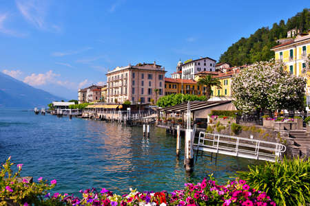 panorama of Bellagio lake Como Italy Editorial