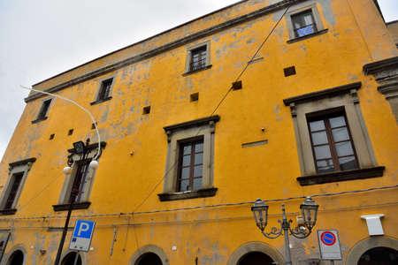 historic building in Naso Sicily Italy 免版税图像