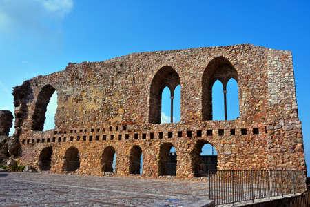 ruins of the norman castle in san marco d'alunzio sicily italy