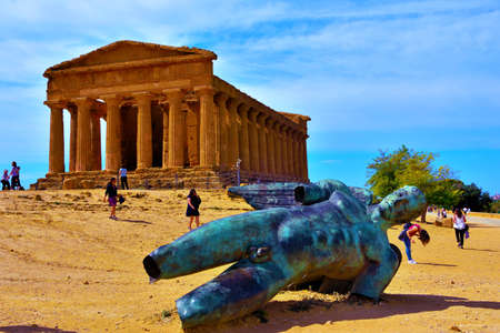 The Temple of Concordia is a Greek temple Valley of the Temples September 28 2018 Agrigento Italy