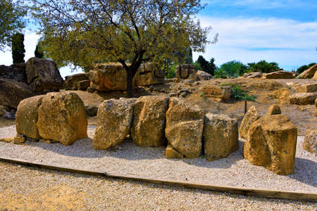 Valley of the Temples Agrigento Sicily Italy Stock fotó