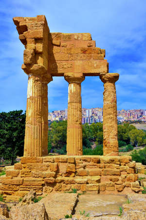 temple of the Dioscuri Valley of the Temples Agrigento Sicily Italy