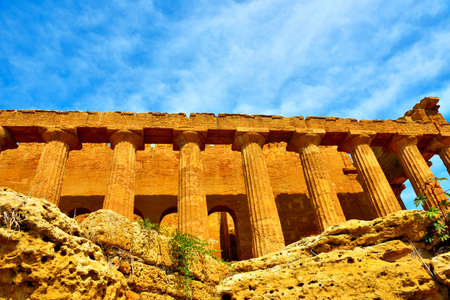The Temple of Concordia is a Greek temple Valley of the Temples Agrigento Sicily Italy