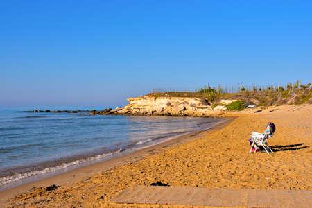 casuzze beach between marina di ragusa and punta sicily, italy