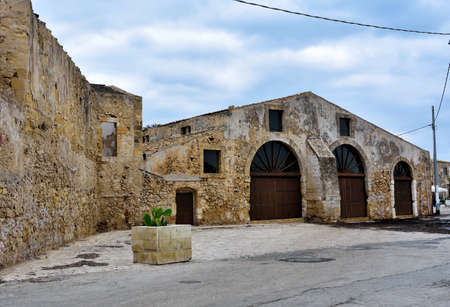glimpse of marzamemi and the tonnara Sicily italy