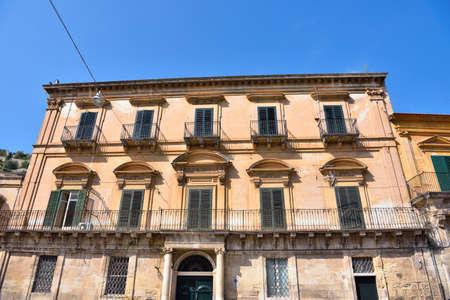 glimpse of historic building in modica Sicily Italy