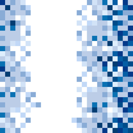 azul abstracto: Abstract Blue Squares Background Vector