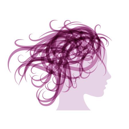 spores: Purple Vector sign beauty hair