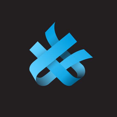 synergie: Vektor-Zeichen abstrakte Form. Konzept der Synergie und Teamwork