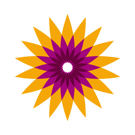 pavilion: Vector sign abstract flower shape