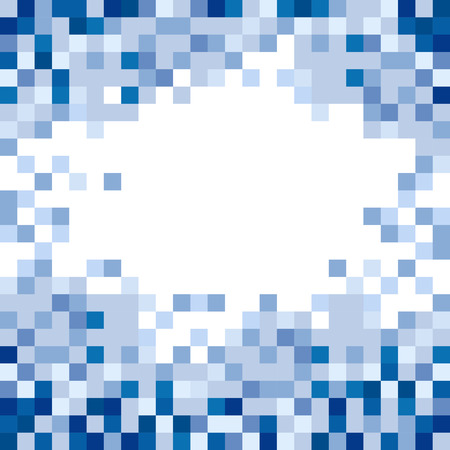 fragmented: Abstract Blue Squares Background Vector