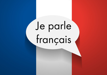 french flag: Vector Sign Speaking French Illustration