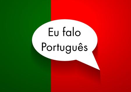 portuguese: Vector Sign Speaking Portuguese