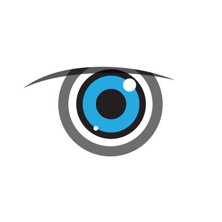 Vector sign blue eye iris Ilustração