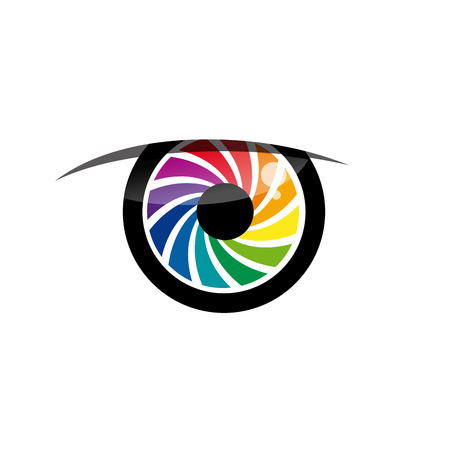 iris: Vector sign rainbow eye iris