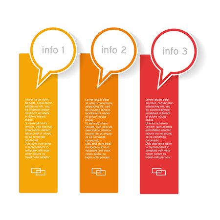 to designate: Info graphics with three options