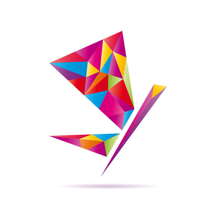 remains: Vector abstract sign Butterfly Illustration