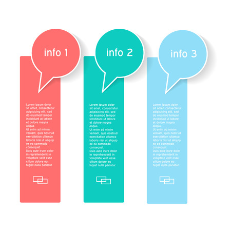 designate: Info graphics with three options