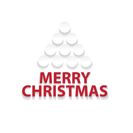 designate: Abstract christmas tree flat design