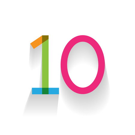 designate: number 10 in flat design