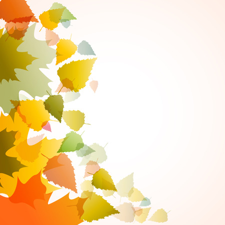 designate: Vector autumn background