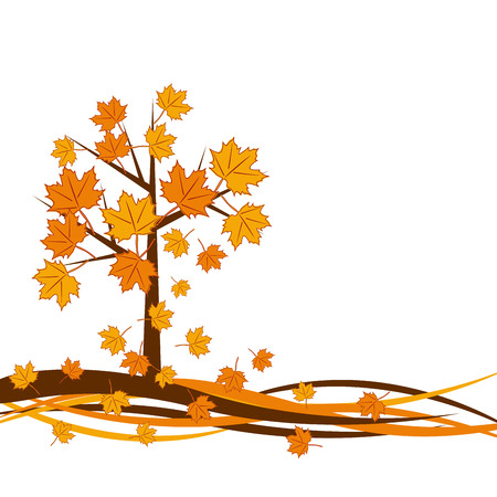 designate: Vector autumn tree background