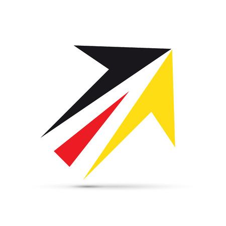 prospect: Vector sign german arrow Illustration