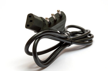electrical plug: Electrical plug on white background Stock Photo