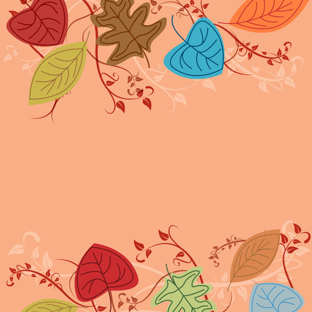 autumn background: Vector autumn background