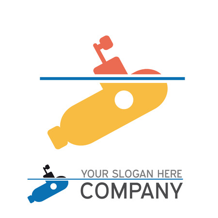stealth: vector sign submarine surfaced Illustration
