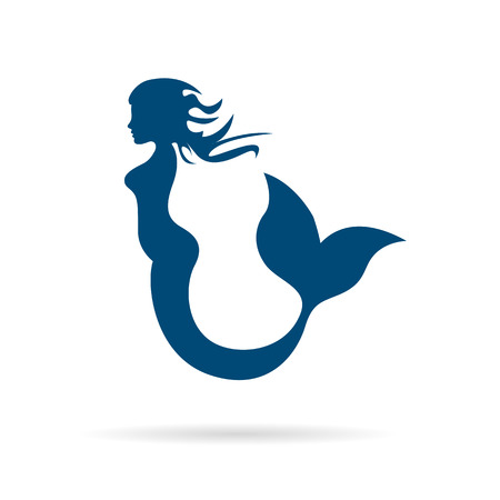 mermaid: Vector sign mermaid