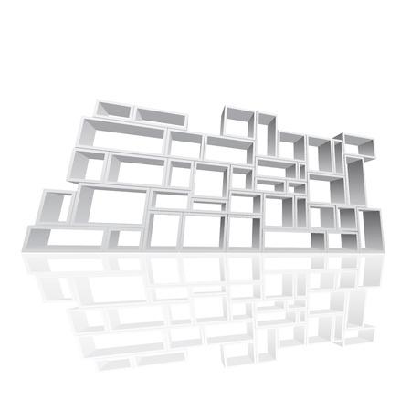 modular: Vector modular shelving 3d