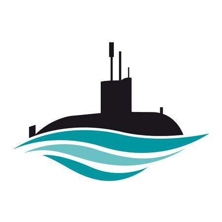Vecteur signe sous-marin