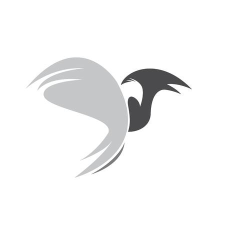 rapacious: Vector sign eagle in flight