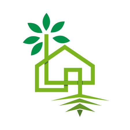 ecological: Vector sign ecohouse Illustration