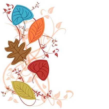 background herfst: Vector herfst achtergrond Stock Illustratie