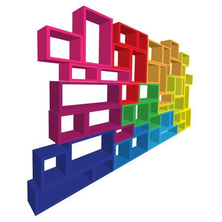 shelving: Vector modular shelving 3d