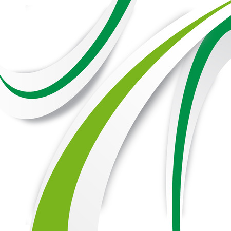 green line: Vector Abstract waves background