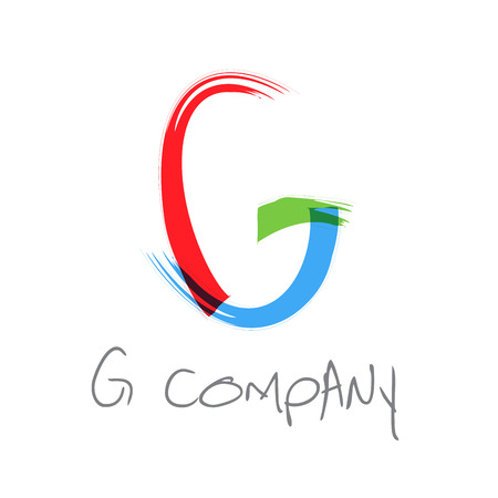 g alphabet: Vector initial letter G scrawled text Illustration