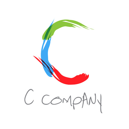 c to c: Vector initial letter C scrawled text