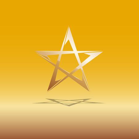 affiliation: Vector sign golden star Illustration